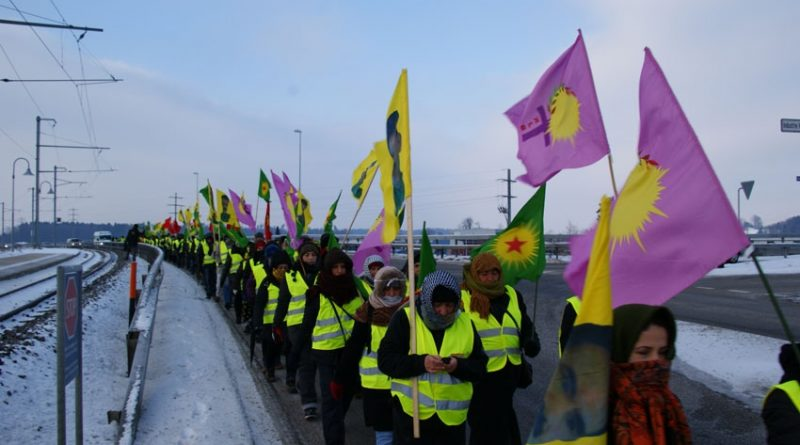 From Geneva to Strasbourg: Kurdish march for justice and peace
