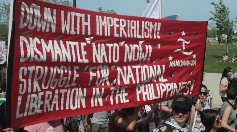Anakbayan-USA at anti-NATO march. Photo by Jonna Baldres