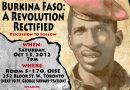 Thomas Sankara commemorative event in Toronto, Canada