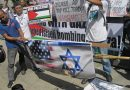 BAYAN protests Israel attacks on Gaza. Photos by Tinay Palabay.