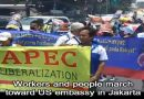 Anti-APEC rally in Jakarta. image grab from youtube