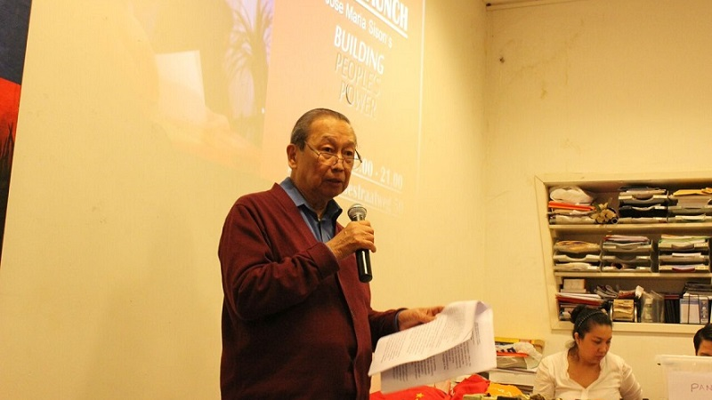 "Author's remarks at launch of ""Building People's Power"""