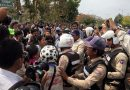 Workers in Cambodia protesting draft law violently dispersed