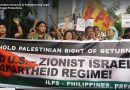 Filipinos condemn massacre of Palestinians by Israel