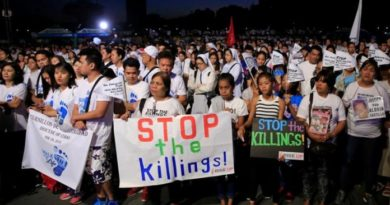 no to killings in the Philippines