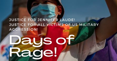 Global Days of Rage for Jennifer Laude and all victims of US military aggression!